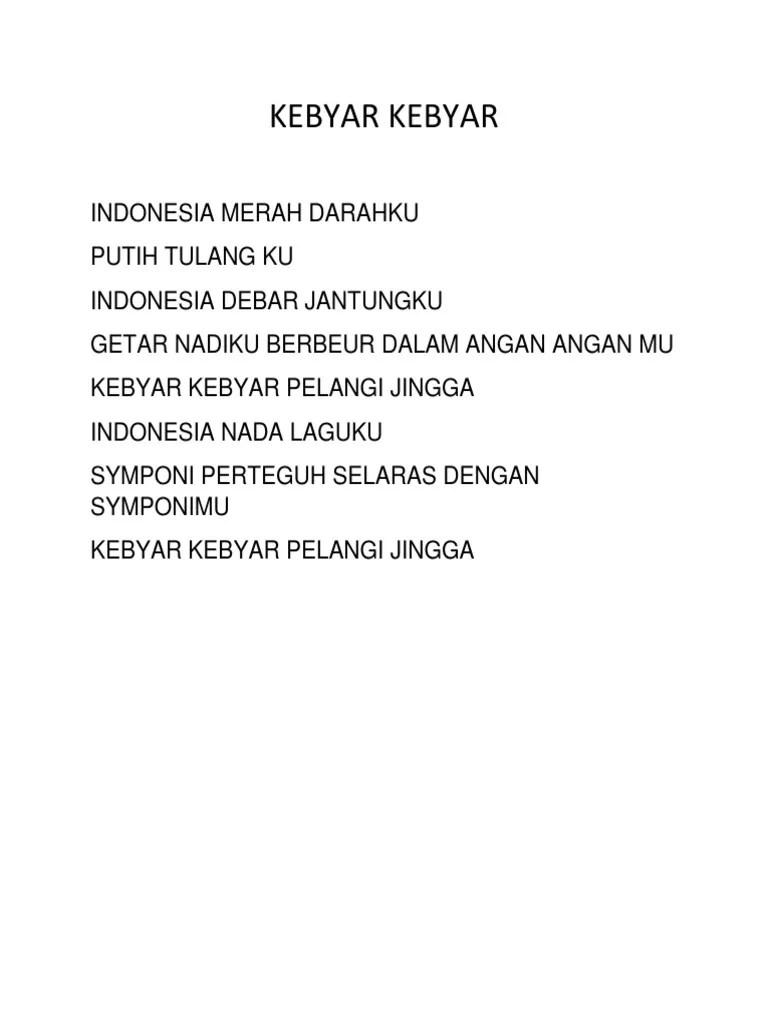 Lagu Indonesia Merah Darahku Putih Tulangku : indonesia, merah, darahku, putih, tulangku, Kelas5b