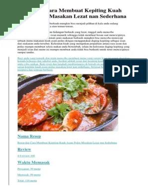 Cara Memasak Kepiting Pedas : memasak, kepiting, pedas, Resep, Membuat, Kepiting, Pedas, Masakan, Lezat, Sederhana