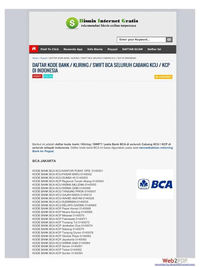Kode Bank 0998 : Kumpulan, Materi, Pelajaran, Contoh