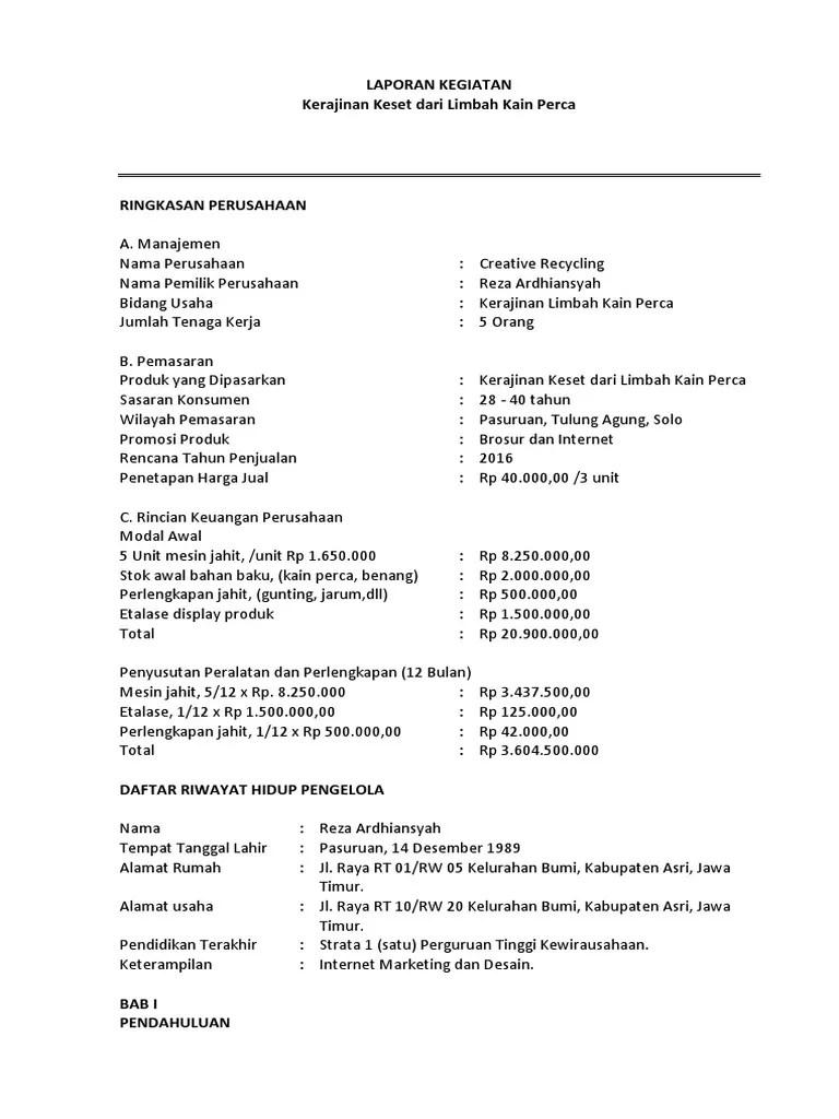 Laporan Kegiatan Usaha Kerajinan Dari Bahan Limbah Berbentuk Bangun Datar : laporan, kegiatan, usaha, kerajinan, bahan, limbah, berbentuk, bangun, datar, Laporan, Hasil, Usaha, Kegiatan, Kerajinan