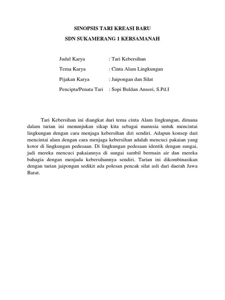 Sinopsis Tari Kreasi : sinopsis, kreasi, Sinopsis, Kreasi