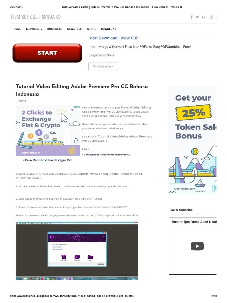 Cara Membuat Opening Video Di Adobe Premiere : membuat, opening, video, adobe, premiere, Tutorial, Sliding, Letterbox, Adobe, Premiere, Indonesia, Otosection