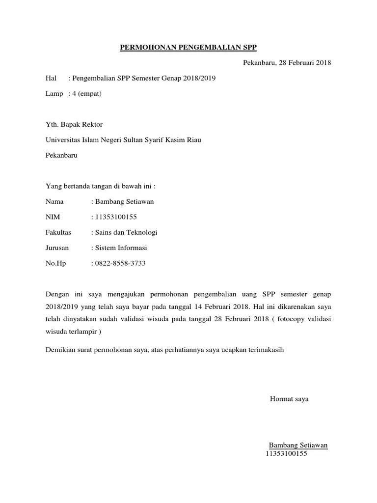Contoh Surat Permohonan Pengembalian Kelebihan Transfer : contoh, surat, permohonan, pengembalian, kelebihan, transfer, Contoh, Surat, Permohonan, Pengembalian, Kanal, Jabar