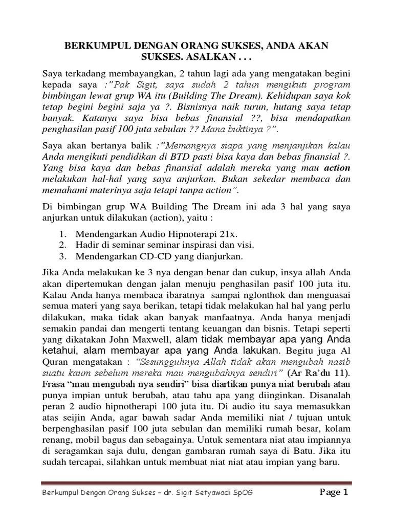 Dr Sigit Setyawadi Spog Penipu : sigit, setyawadi, penipu, Berkumpul, Dengan, Orang, Sukses-1