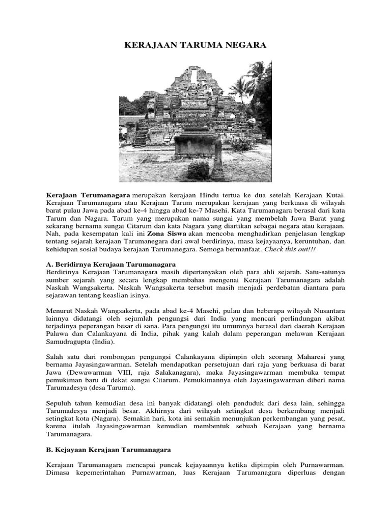 Jelaskan Sejarah Berdirinya Kerajaan Taruma Negara : jelaskan, sejarah, berdirinya, kerajaan, taruma, negara, Kerajaan, Taruma, Negara, Mataram