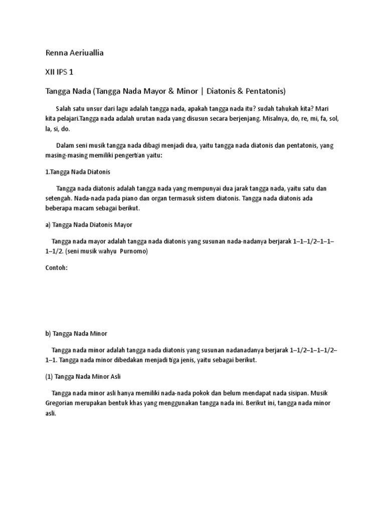 Pengertian Tangga Nada Minor : pengertian, tangga, minor, Pentatonis