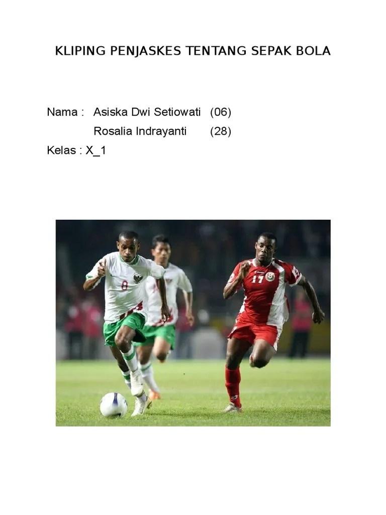 Gambar Tentang Sepak Bola : gambar, tentang, sepak, Kliping, Penjaskes, Tentang, Sepak
