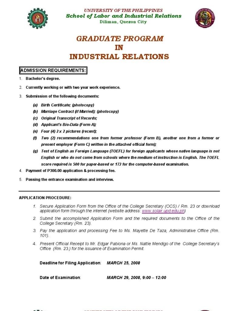 GSP Application -Form 2008_February | Graduate School | Master's Degree
