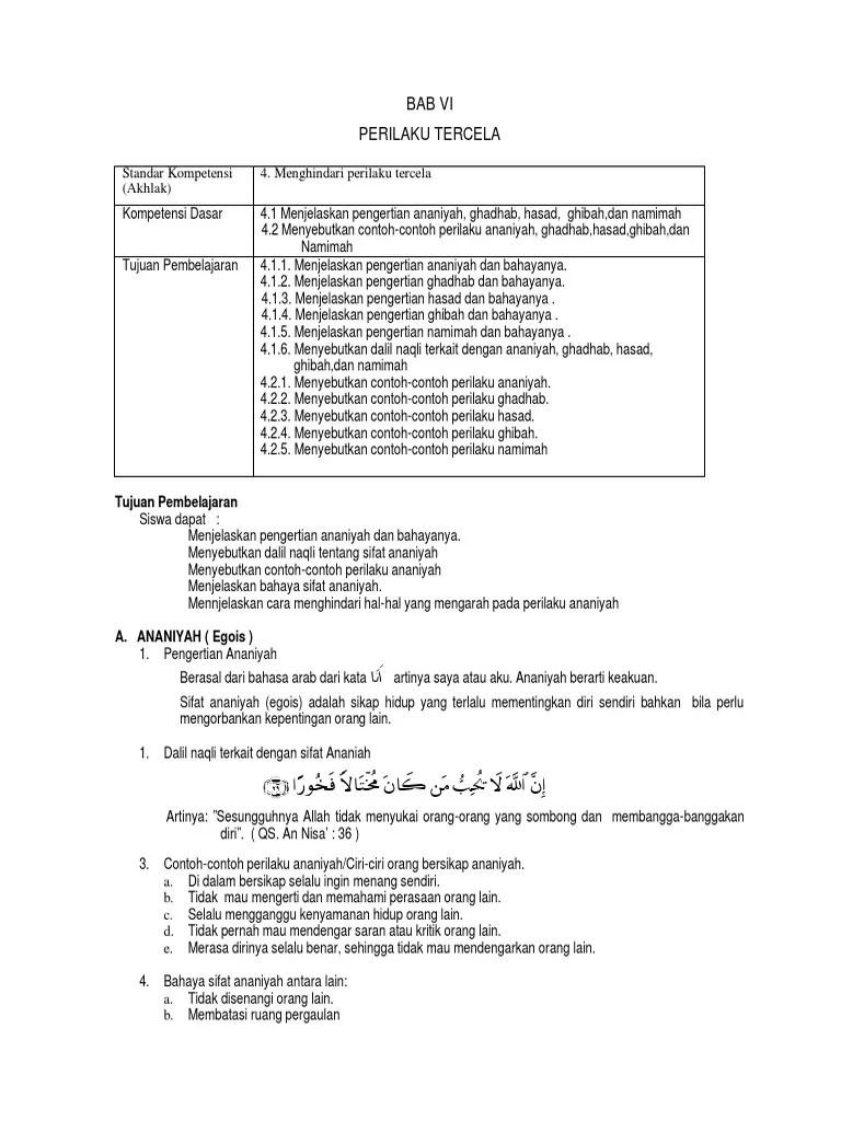 Contoh Perilaku Ananiyah : contoh, perilaku, ananiyah, 6-perilaku-tercela.pdf