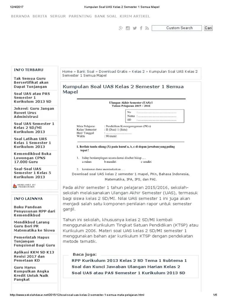 Kisi-kisi Soal Ulangan Semester 1 Kelas 5 Sd Kurikulum 2013 Revisi 2018 : kisi-kisi, ulangan, semester, kelas, kurikulum, revisi, Kelas, Semester, Kurikulum, Revisi