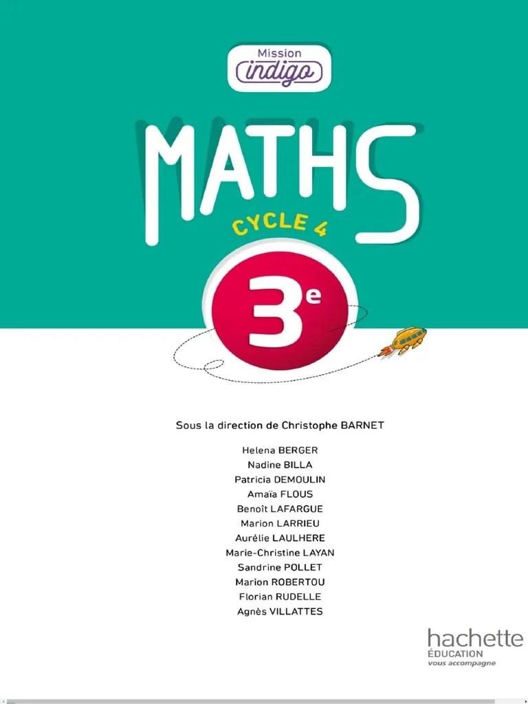 Mission Indigo Maths 5eme Correction : mission, indigo, maths, correction, 3ème, Mission, Indigo