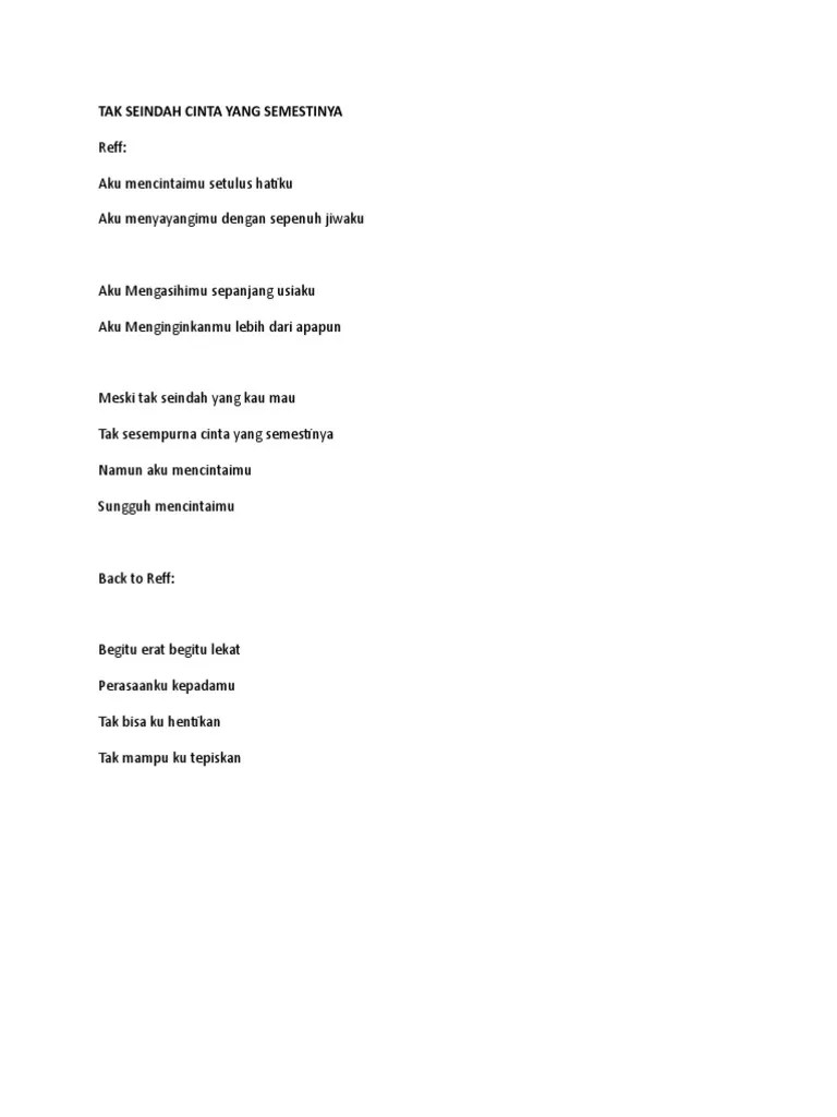 Lirik Lagu Tak Seindah Cinta Yang Semestinya : lirik, seindah, cinta, semestinya, Lirik, Seindah, Cinta, Semestinya, Sedang