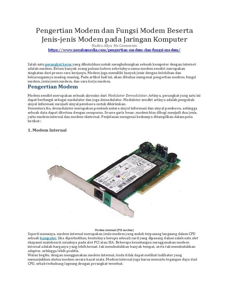Fungsi Modem Dial Up : fungsi, modem, Pengertian, Modem, Fungsi, Beserta, Jenis-jenis, Jaringan, Komputer