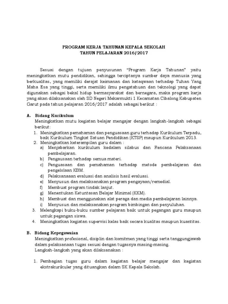 Download Laporan Program Kerja Kepala Sekolah TP. 2017/2018...