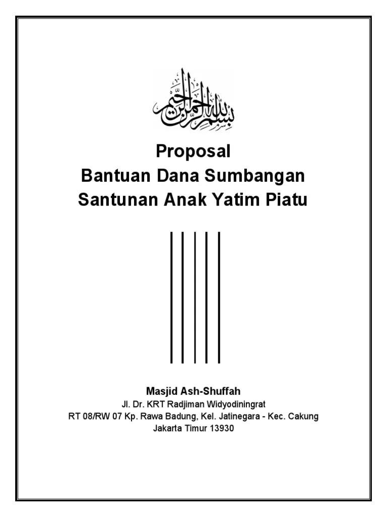 Proposal Santunan Anak Yatim : proposal, santunan, yatim, Proposal, Kegiatan, Santunan, Yatim, Piatu, Masjid, Ash-Shuffah.