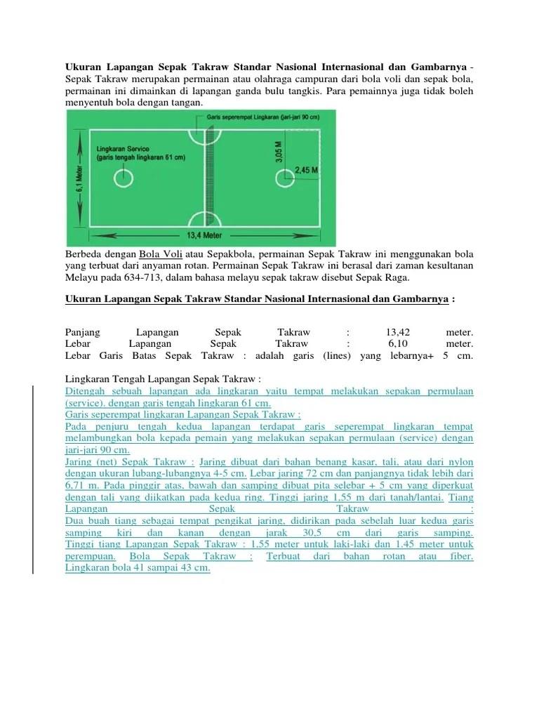 Lapangan Sepak Takraw Dan Ukurannya : lapangan, sepak, takraw, ukurannya, Ukuran, Lapangan, Sepak, Takraw, Standar, Nasional, Internasional, Gambarnya