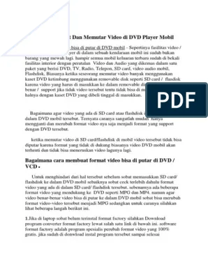 Format Video Yang Bisa Diputar Di Dvd Mobil : format, video, diputar, mobil, Membuat, Memutar, Video, Player, Mobil.docx