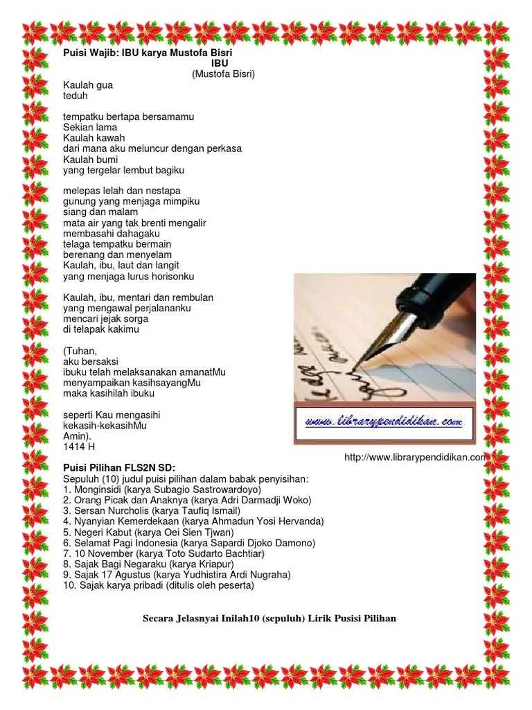 Puisi Negeriku Karya Kh Mustofa Bisri : puisi, negeriku, karya, mustofa, bisri, Puisi, Ciptaan, Mustofa, Bisri, Koleksi