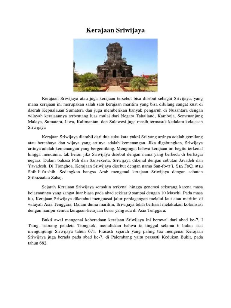 Kerajaan Sriwijaya Disebut Kerajaan Maritim : kerajaan, sriwijaya, disebut, maritim, Kerajaan, Sriwijaya