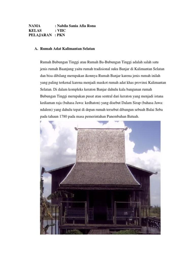 Gambar Rumah Adat Kalimantan Selatan : gambar, rumah, kalimantan, selatan, Gambar, Rumah, Kalimantan, Selatan, Terlengkap, Koleksi