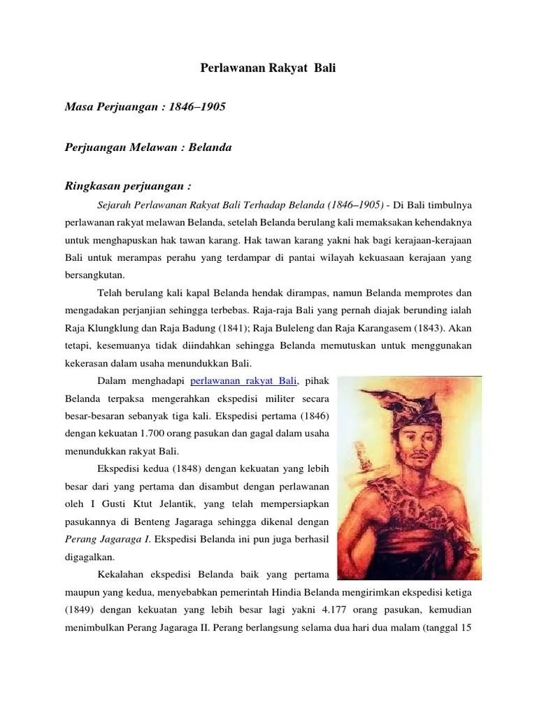 Masa Perjuangan Perlawanan Rakyat Bali : perjuangan, perlawanan, rakyat, Perlawanan, Rakyat