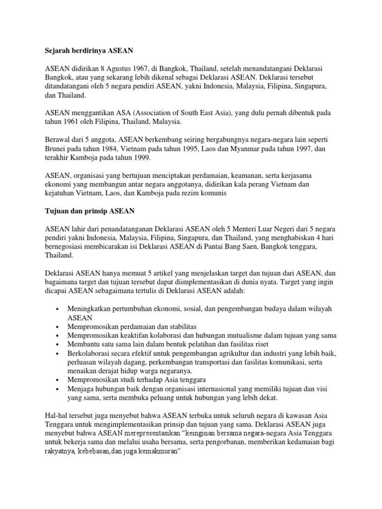Isi Deklarasi Bangkok : deklarasi, bangkok, Menteri, Negeri, Malaysia, Mendatangi, Deklarasi, Bangkok, Adalah
