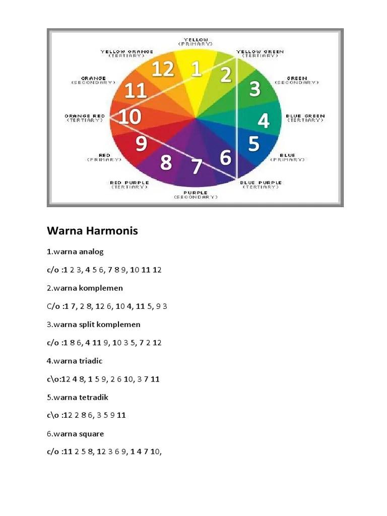 Warna Komplemen : warna, komplemen, Warna, Harmonis
