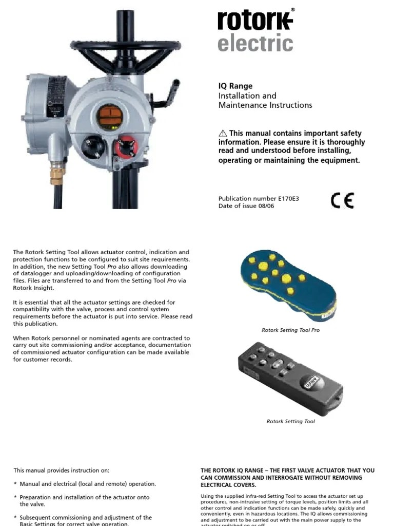 medium resolution of rotork iq wiring diagram together with rotork iq wiring diagram asrotork iq installation and maintenance instructions