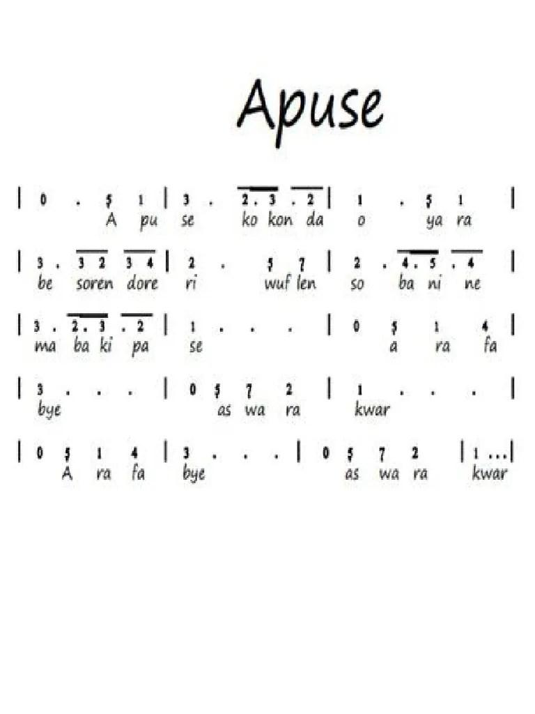 Not Angka Lagu Apuse : angka, apuse, Apuse.docx