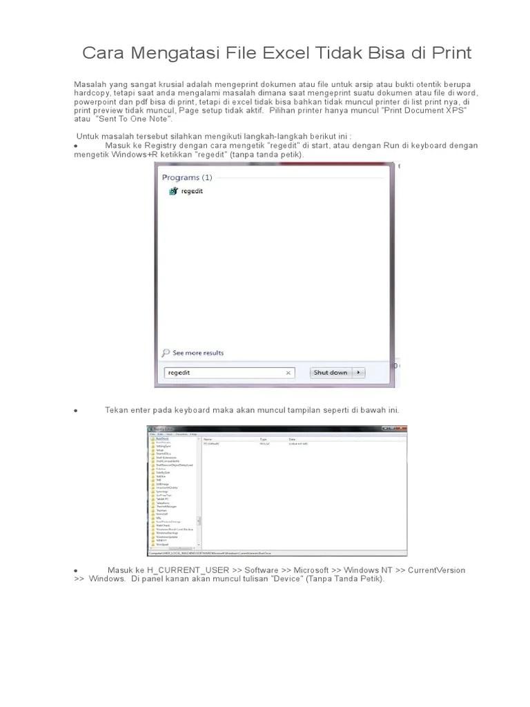 File Pdf Tidak Bisa Di Print : tidak, print, Mengatasi, Excel, Tidak, Print