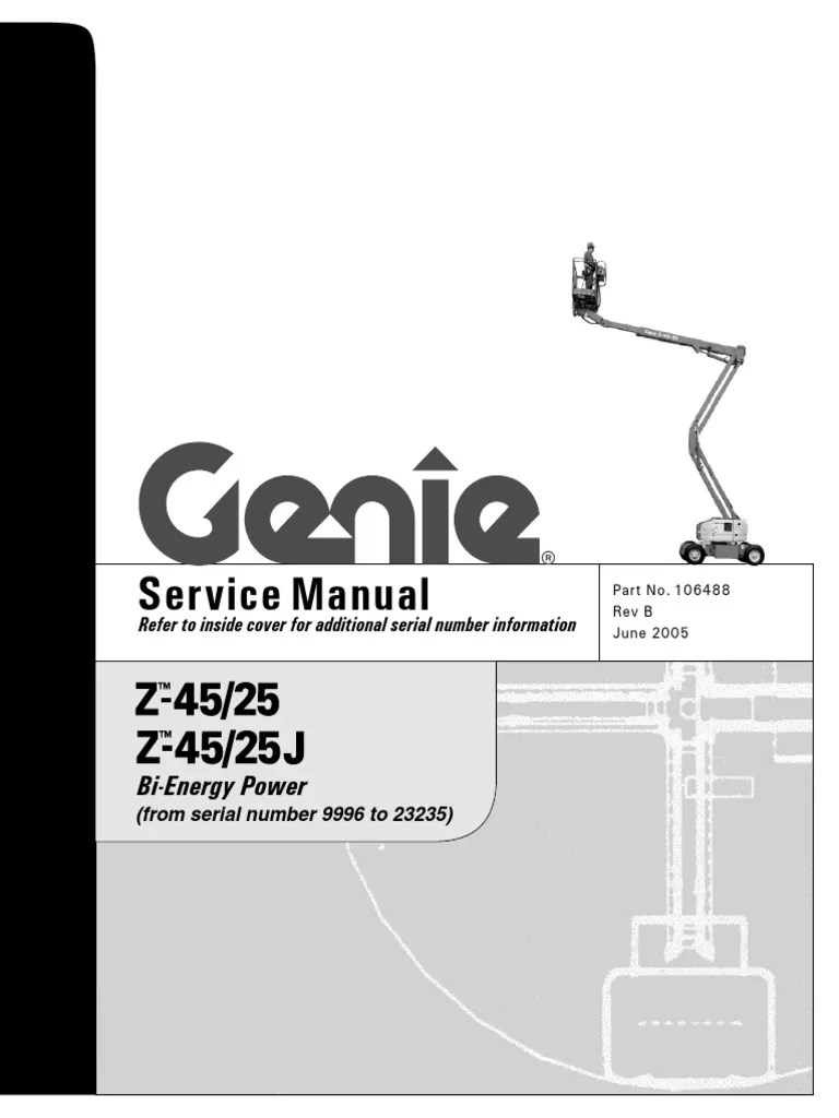hight resolution of z45 genie lift wiring diagram
