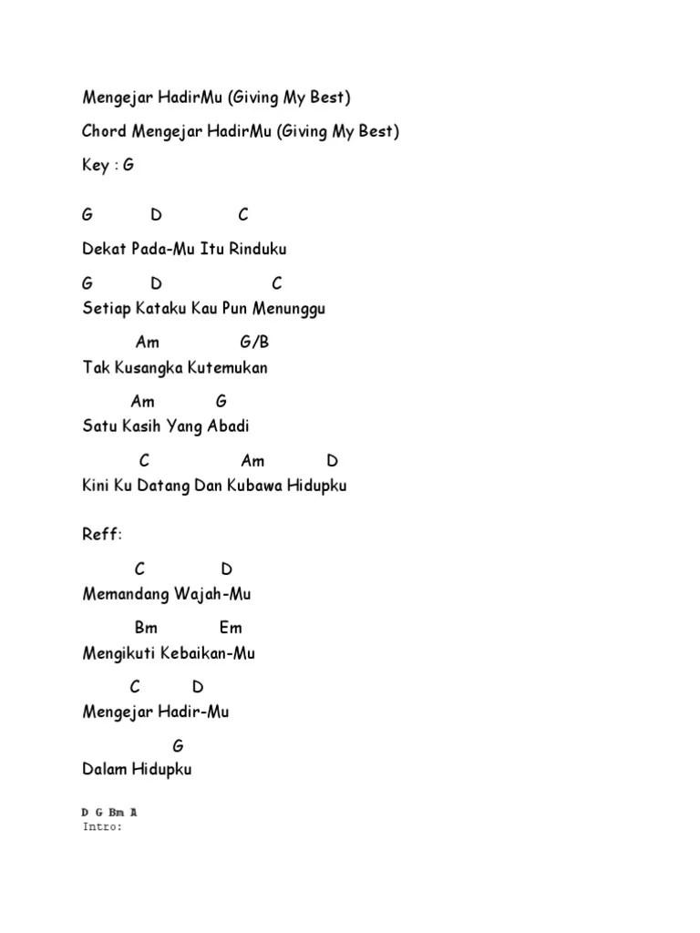 Chords for GMB - Mengejar HadirMu (Lirik)