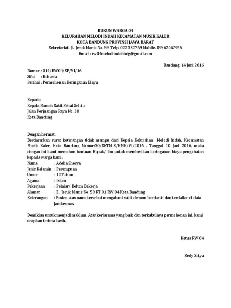 Surat Permohonan Keringanan Biaya Sekolah : surat, permohonan, keringanan, biaya, sekolah, Contoh, Surat, Permohonan, Keringanan, Biaya, Cute766