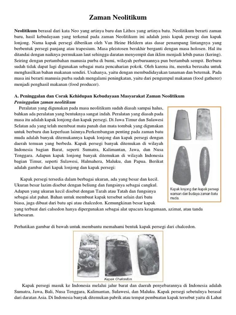 Hasil Kebudayaan Zaman Neolitikum : hasil, kebudayaan, zaman, neolitikum, Kebudayaan, Zaman, Neolitikum