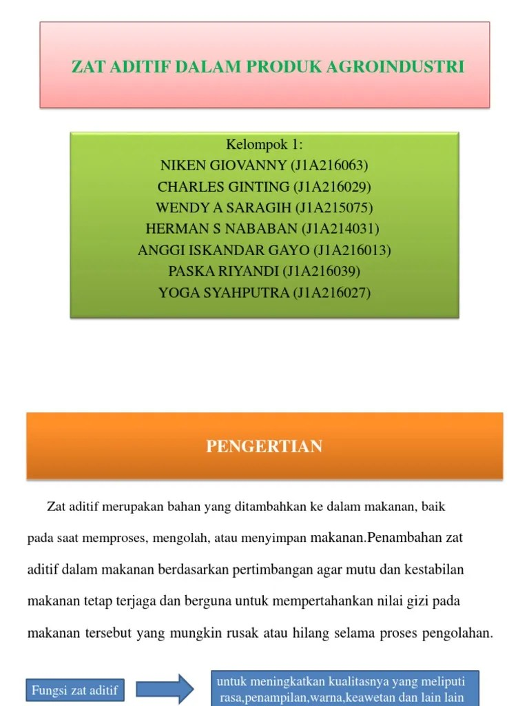 Pengertian Zat Aditif Pada Makanan : pengertian, aditif, makanan, ANALISIS, ADITIF