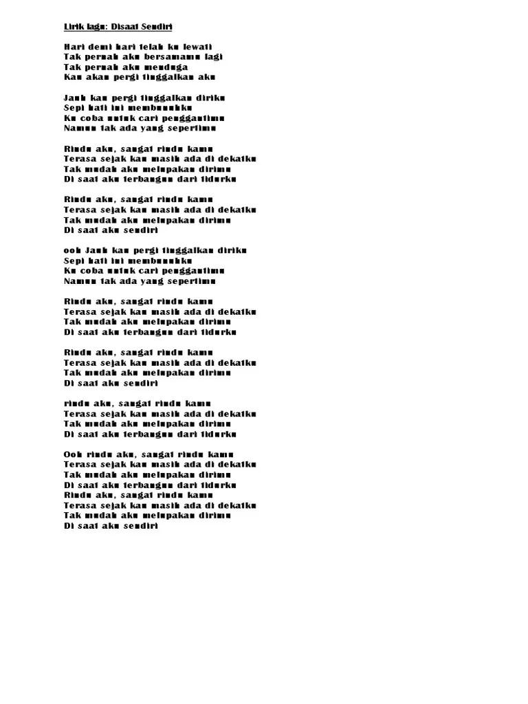 Chord Rindu Aku Rindu Kamu : chord, rindu, Lirik, Rindu, Sangat