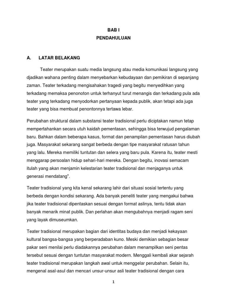 Sejarah Teater Tradisional : sejarah, teater, tradisional, Makalah, Karya, Teater, Tradisional, Indonesia