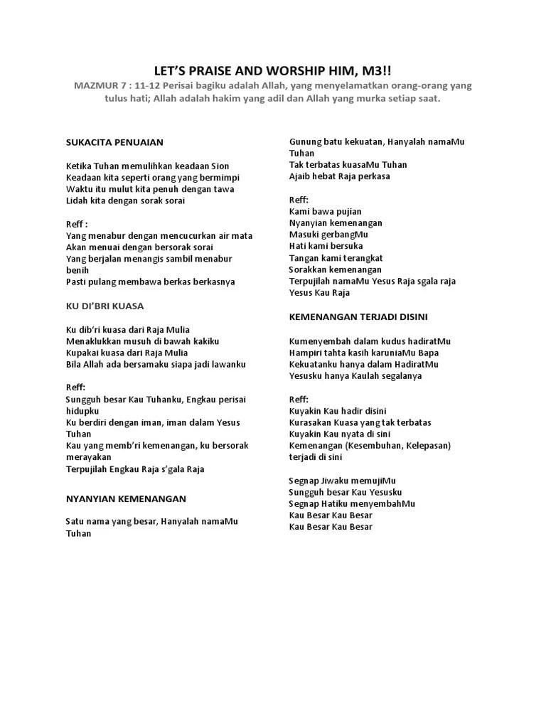 Lirik Lagu Ku Dibri Kuasa : lirik, dibri, kuasa, Terpujilah, Allah, Chord, Mudah