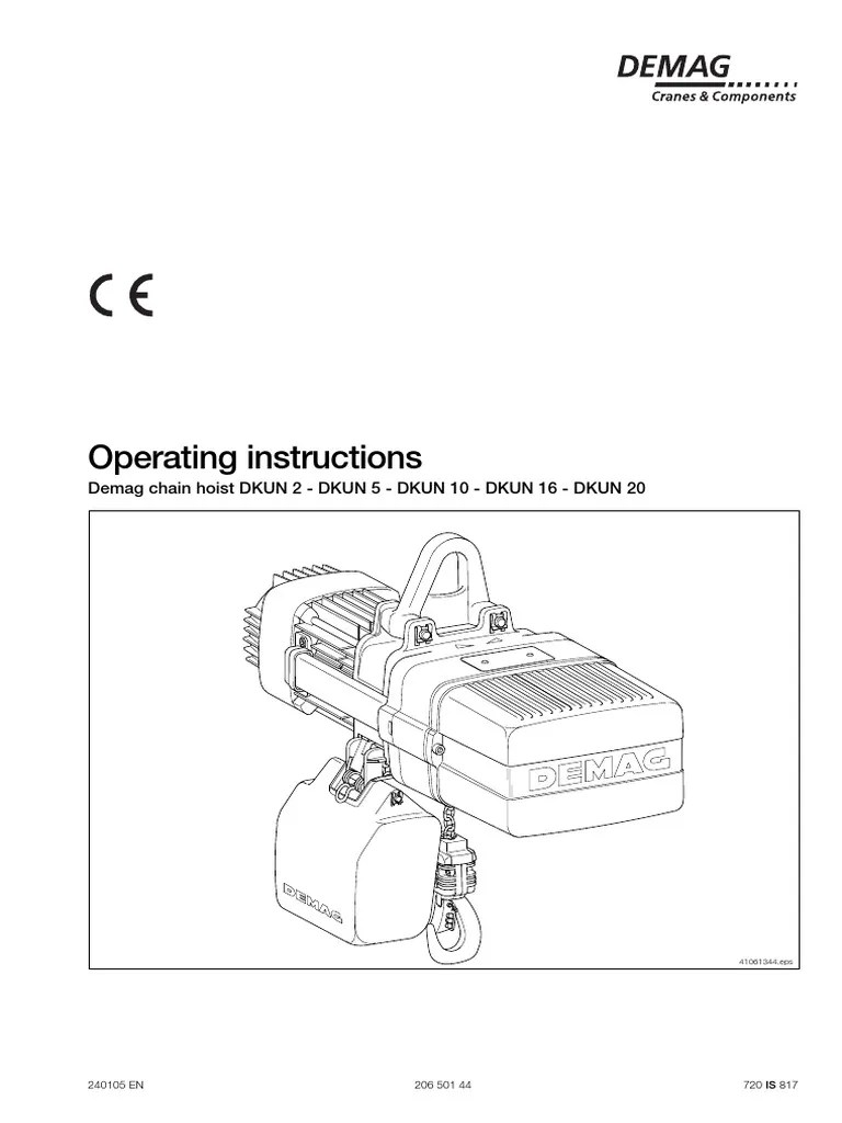 demag dkun hoist operating manual electrician 174 views demag chain hoist wiring diagram [ 768 x 1024 Pixel ]