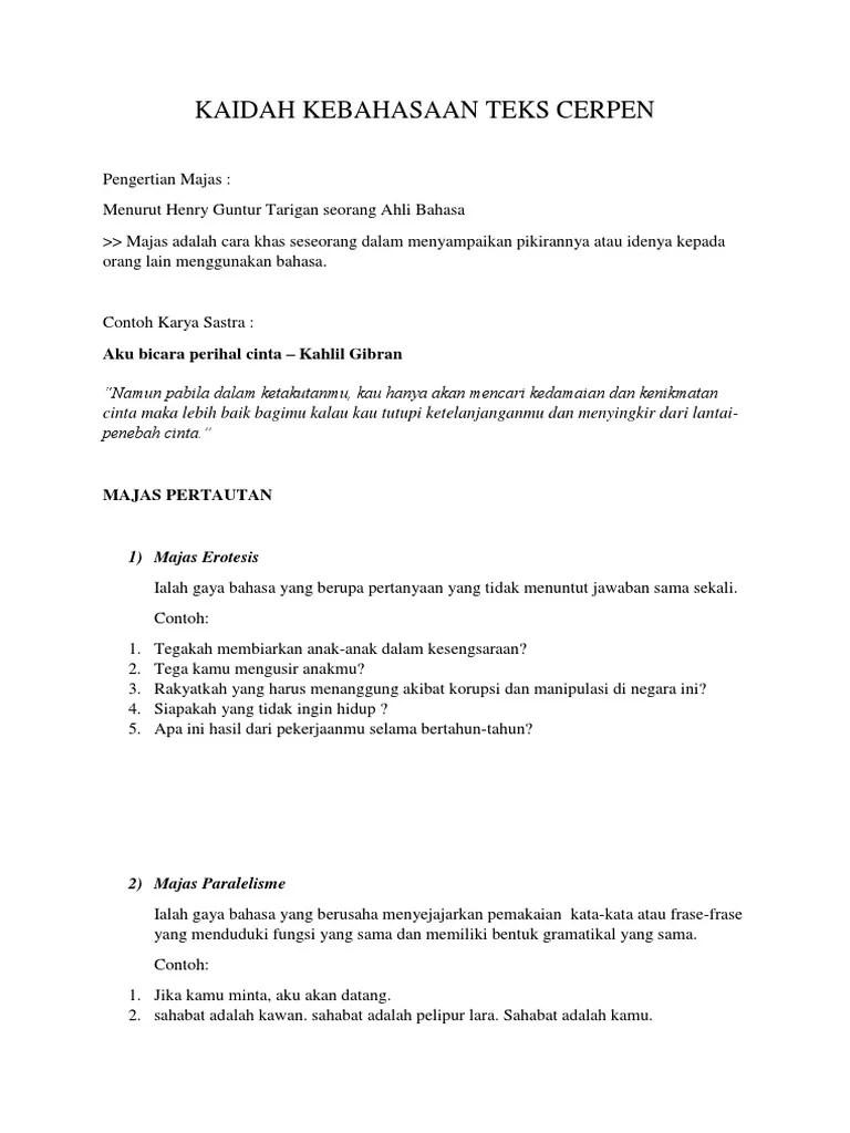 Struktur Dan Kaidah Cerpen : struktur, kaidah, cerpen, Kaidah, Bahasa, Cerpen, Ilustrasi