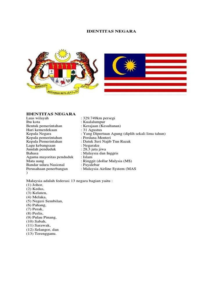 Negara Bagian Malaysia : negara, bagian, malaysia, Identitas, Negara, Malaysia