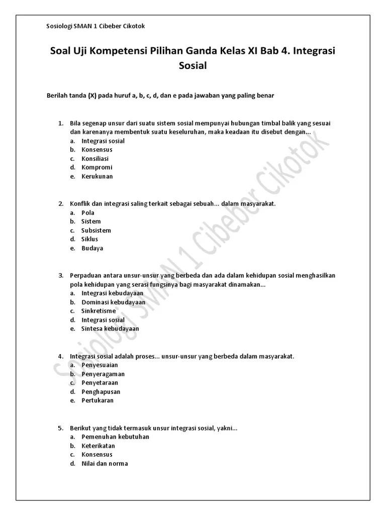 Soal Tentang Integrasi Nasional : tentang, integrasi, nasional, Contoh, Jawaban, Integrasi, Sosial, IlmuSosial.id