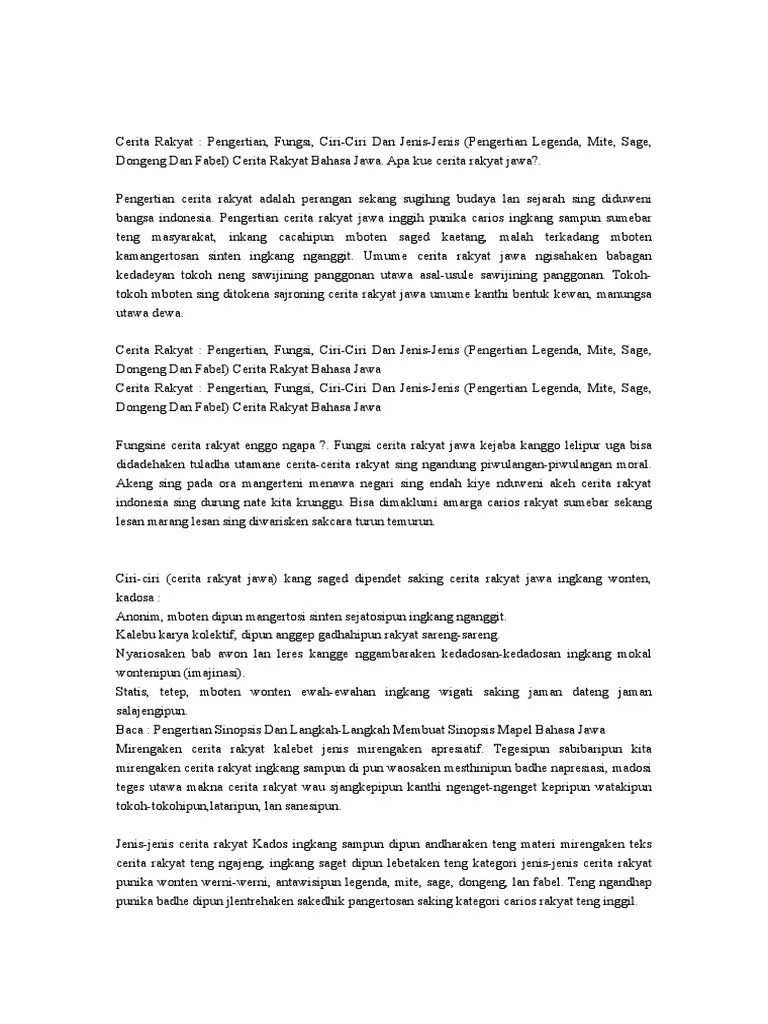 Fabel Bahasa Jawa : fabel, bahasa, JAWA], Cerita, Rakyat