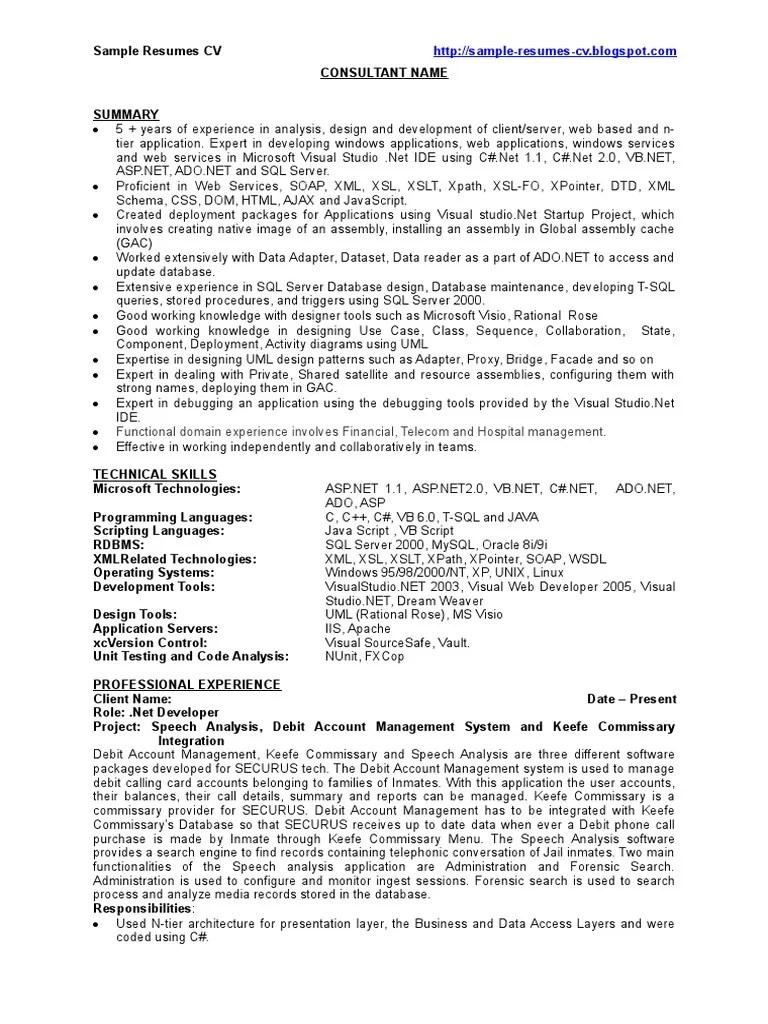 sample resume interests