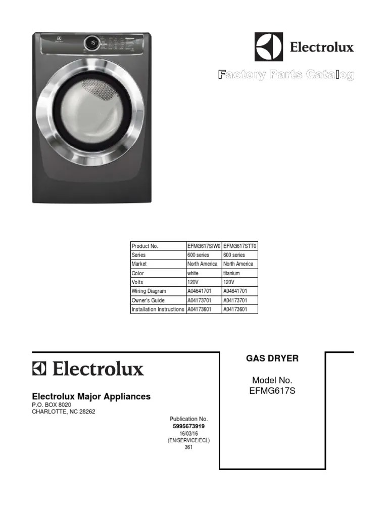 medium resolution of  moffat electrolux gas dryer efmg617stt0 and efmg617siw0 factory parts on hobart wiring diagram