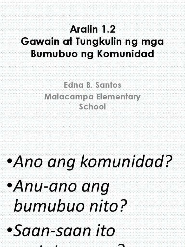 medium resolution of Gawain at Tungkulin Ng Mga Bumubuo Ng Komunidad