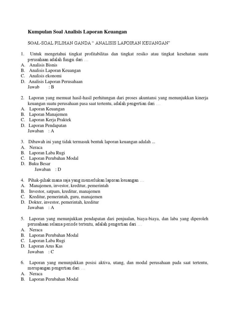Soal Pilihan Ganda Administrasi Keuangan Guru Galeri