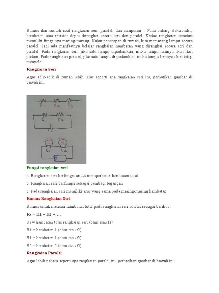Tutorial Listrik Dinamis (2) - Menghitung kuat arus pada