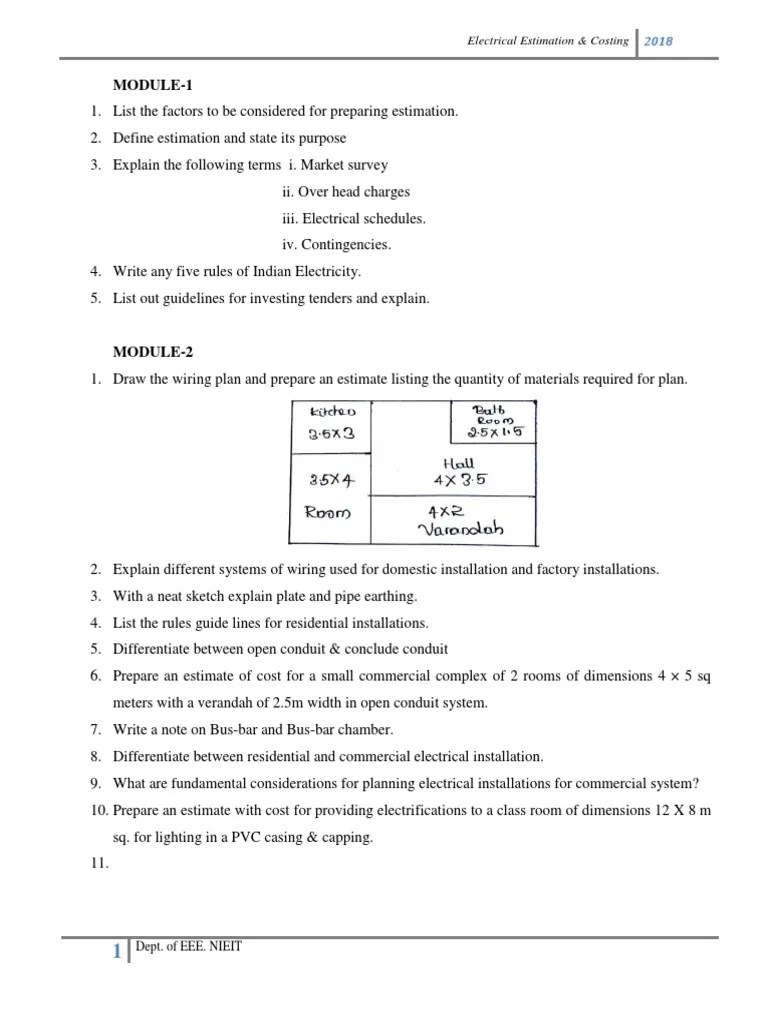 small resolution of electrical wiring estimating costing