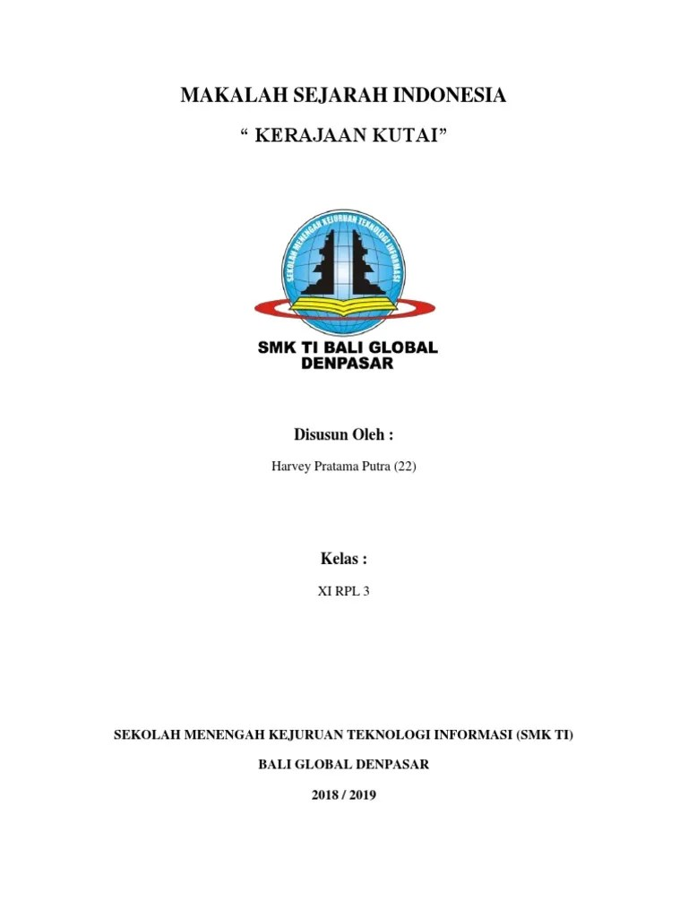 Makalah Sejarah Kerajaan Kutai : makalah, sejarah, kerajaan, kutai, Makalah, Sejarah, Indonesia,